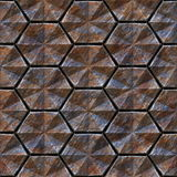 Seamless texture of metal. Non-slip treads plate background Stock Photo