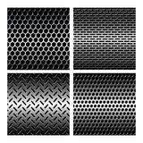 Seamless texture metal grids background Stock Image