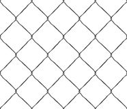 Seamless texture metal mesh steel fence Stock Photography