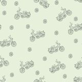 Seamless texture moped Royalty Free Stock Photos