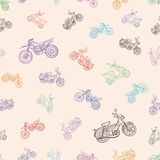 Seamless texture with mopeds Royalty Free Stock Photography