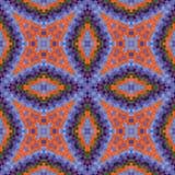 Seamless texture of mosaic kaleidoscope pattern Stock Images