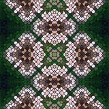 Seamless texture of mosaic kaleidoscope pattern Stock Photo