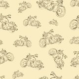 Seamless texture with motorcycles Stock Photos