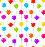 Seamless Texture Multicolored Balloons for Party Stock Images