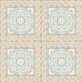 Seamless texture multicolored mosaics stock illustration
