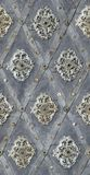 Seamless texture nailed metal floral decoration Royalty Free Stock Images