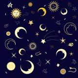 Seamless Texture night sky Royalty Free Stock Photography