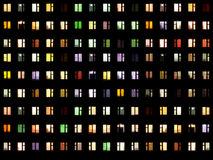 Seamless texture - night windows Royalty Free Stock Images