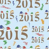 2015 Seamless texture. Seamless texture with number 2015 in caps royalty free illustration