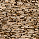 Seamless Texture Of Brown Slate Stone Surface. Royalty Free Stock Image