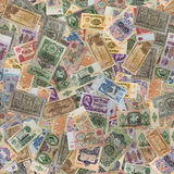 Seamless Texture of Old Banknotes. Stock Photo