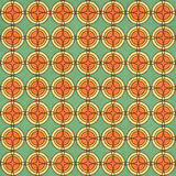 Seamless texture of the old paper with geometric ornamental patt Stock Photo
