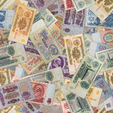 Seamless Texture of Old USSR Banknotes. Royalty Free Stock Image