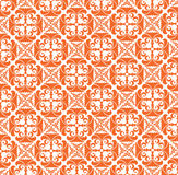 Seamless texture from orange floral motif Royalty Free Stock Photos