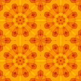 Seamless texture with an orange floral pattern. Optimistic. For print on textiles, bed sheets, tablecloths, wrapping paper, wall/floor tiles for kitchen/ Royalty Free Stock Images