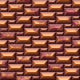 Seamless texture with orange wall royalty free illustration