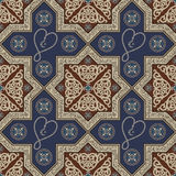 Seamless texture with an oriental topic 19. Abstract seamless pattern from decorative ornament elements Ramadan rosary. Vector illustration Stock Images