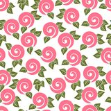Seamless texture. Ornament with roses Stock Photo