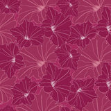 Seamless texture with outline flowers Royalty Free Stock Photos