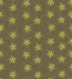 Seamless texture with outline yellow flowers Royalty Free Stock Images