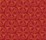 Seamless texture with outlined decorative flowers. Seamless pattern with white flowers cal on purple red background Royalty Free Stock Photos