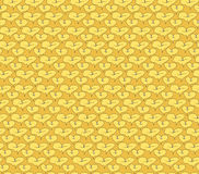 Seamless texture with outlined decorative flowers Stock Photo