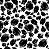 Seamless texture painted handmade black shape. Vector seamless pattern. Hand painted spots black Royalty Free Stock Images