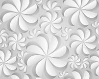 Seamless texture with paper flowers. Royalty Free Stock Image