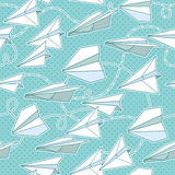 Seamless texture with paper planes. Royalty Free Stock Photography
