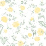 Seamless texture of pastel yellow  roses for textiles Stock Image