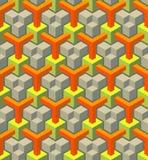 Seamless texture pattern. Seamless geometrical pattern of blocks Royalty Free Stock Photo