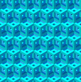 Seamless texture pattern. Seamless geometrical pattern of blue blocks Stock Photos