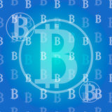 Seamless texture pattern bitcoin cripto currency blockchain flat. Block chain sticker for web or print. Vector background Stock Photo