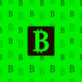 Seamless texture pattern bitcoin cripto currency blockchain flat. Block chain sticker for web or print. Vector background Stock Images