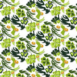 Seamless texture, pattern of clover. Vector background for St. Patrick`s Day Royalty Free Stock Photo