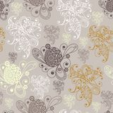 Graphic illustration with seamless pattern 16. Seamless texture pattern in floral style.  Vector illustration Stock Photos