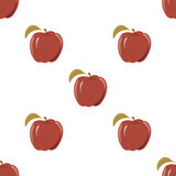 Seamless texture with a pattern of red apples Stock Photography