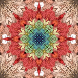 Seamless texture with patterned mandala and tribal pattern Royalty Free Stock Image