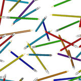 Seamless texture from pencils Stock Photography