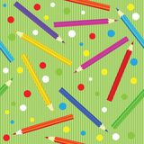 Seamless texture with  pencils. Template for design Royalty Free Stock Photos