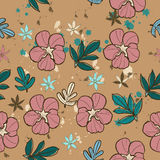 Seamless texture with pink flower. Stock Photography