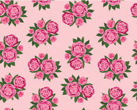 Seamless texture with pink flowers Stock Photos