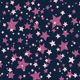 Seamless texture of pink, lilac flowers-stars. Endless cute romantic texture. Template for design and decoration backgrounds, package, covers Royalty Free Stock Photos