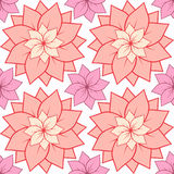 Seamless texture with pink lotus flowers. Stock Photo