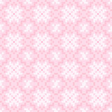 Seamless texture with pink and white abstract flowers Stock Photography