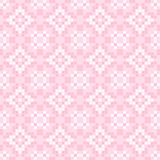 Seamless texture with pink and white abstract flowers. Seamless texture with pink and white abstract patterns for tablecloth. Embroidery.Cross stitch Stock Photo