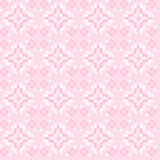 Seamless texture with pink and white abstract flowers. Seamless texture with pink and white abstract patterns for tablecloth. Embroidery.Cross stitch Royalty Free Stock Photography