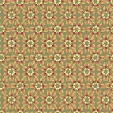 Seamless texture with plant motif Stock Image