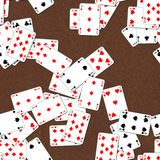Seamless texture of playing cards Stock Images